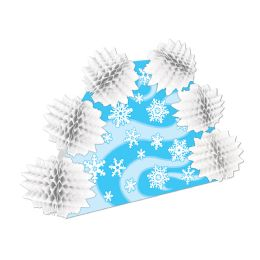 12 Units of Snowflake Pop-Over Centerpiece - Party Center Pieces