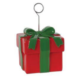 6 Units of Christmas Gift Box Photo/Balloon Holder - Balloons/Balloon Holder