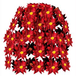12 Units of Poinsettia Cascade - Party Center Pieces