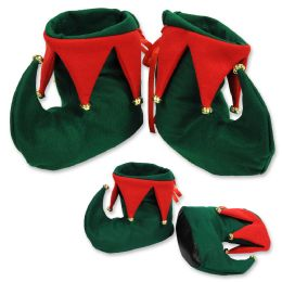 12 Units of Elf Boots One Size Fits Most; Indoor Use Only - Party Novelties