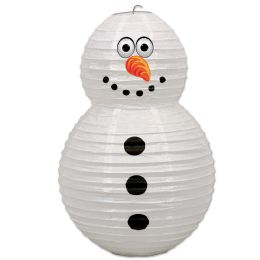 6 Units of Snowman Paper Lantern - Hanging Decorations & Cut Out