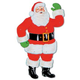 12 Units of Jointed Santa - Bulk Toys & Party Favors