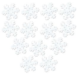24 Units of White Tissue Snowflakes - Hanging Decorations & Cut Out