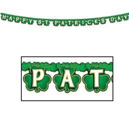 12 Units of Shamrock Happy St Patrick's Day Streamer - Streamers & Confetti