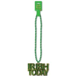 12 Units of Beads w/Irish Today Medallion - Party Necklaces & Bracelets