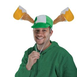6 Units of Plush St Patrick's Day Mugs Cap activate arms w/drawstring; one size fits most - St. Patricks