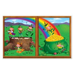 6 Units of St Patrick's Day InstA-View Creates A Scene On Your Wall - Party Novelties