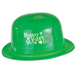 48 Units of Plastic Happy St Patrick's Day Derby one size fits most - St. Patricks