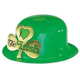 24 Units of Plastic Irish Derby one size fits most - St. Patricks