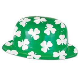25 Units of Plastic Shamrock Derby One Size Fits Most - Party Hats & Tiara