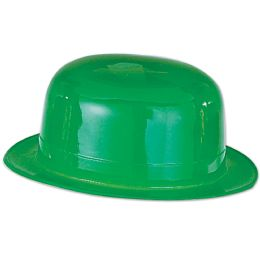 48 Units of Green Plastic Derby one size fits most - St. Patricks