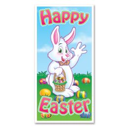 12 Units of Easter Door Cover Indoor & Outdoor Use - Easter