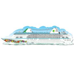 12 Units of Jointed Cruise Ship - Bulk Toys & Party Favors