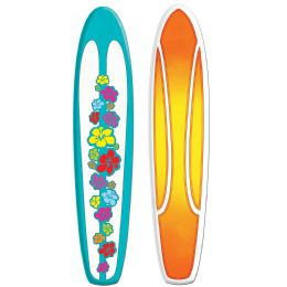 12 Units of Jointed Surfboard prtd 2 sides w/different designs - Bulk Toys & Party Favors