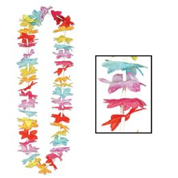 50 Units of Floral Lei MultI-Color - Party Novelties