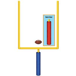 12 Units of Jointed Goal Post prtd 2 sides w/different colors - Bulk Toys & Party Favors