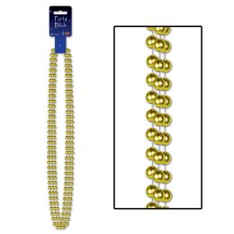 12 Units of Party Beads - Large Round gold - Party Necklaces & Bracelets