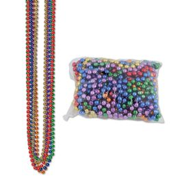 12 Units of Party Beads - Small Round asstd colors; internet friendly; no retail packaging - Party Necklaces & Bracelets