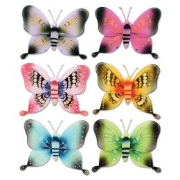 12 Units of Majestic Butterflies Asstd Designs; Nylon - Hanging Decorations & Cut Out