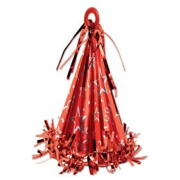 12 Units of Cone Hat Balloon Weight Red - Party Hats & Tiara