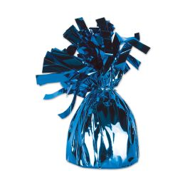 12 Units of Metallic Wrapped Balloon Weight Blue - Balloons & Balloon Holder