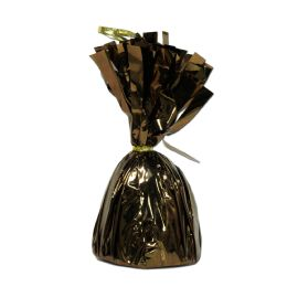 12 Units of Metallic Wrapped Balloon Weight chocolate brown
