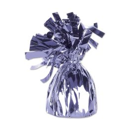 12 Units of Metallic Wrapped Balloon Weight Lavender - Balloons & Balloon Holder