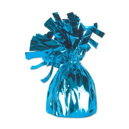 12 Units of Metallic Wrapped Balloon Weight Lt Blue - Balloons & Balloon Holder