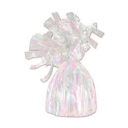 12 Units of Metallic Wrapped Balloon Weight Opalescent - Balloons & Balloon Holder