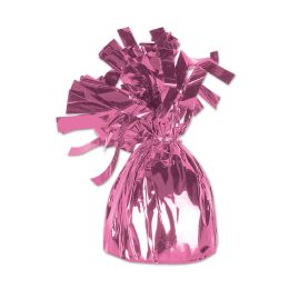 12 Units of Metallic Wrapped Balloon Weight Pink - Balloons & Balloon Holder