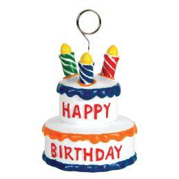 6 Units of Birthday Cake Photo/Balloon Holder