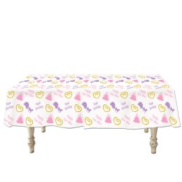 12 Units of Princess Tablecover Plastic - Table Cloth