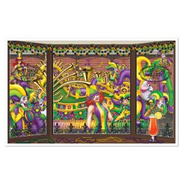 6 Units of Mardi Gras InstA-View Creates A Scene On Your Wall - Party Novelties
