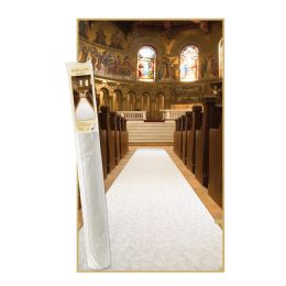 Elite Collection Aisle Runner Spun Poly W/doublE-Stick Tape & Braided Cord - Party Novelties