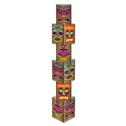 6 Units of Tiki Column 6 Individual Sections Create 1-5' 7.25 Column; Assembly Required - Party Novelties