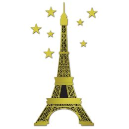 12 Units of Jointed Foil Eiffel Tower foil/prtd 1 side - Bulk Toys & Party Favors