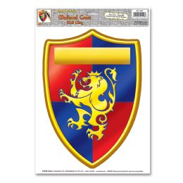 12 Units of Medieval Crest Peel 'N Place - Hanging Decorations & Cut Out