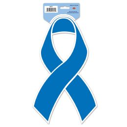 24 Units of Blue Ribbon Cutout Prtd 2 Sides - Hanging Decorations & Cut Out