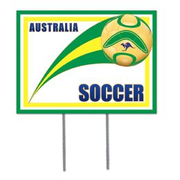 6 Units of Plastic Yard Sign - Australia 2 metal stakes included; assembly required - Hanging Decorations & Cut Out