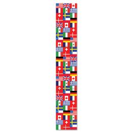 12 Units of Jtd International Flag Pull-Down Cutout prtd 2 sides - Bulk Toys & Party Favors