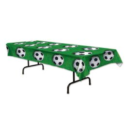 12 Units of Soccer Ball Tablecover Plastic - Table Cloth