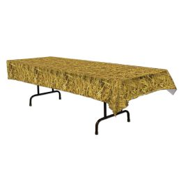 12 Units of Straw Tablecover Plastic - Table Cloth