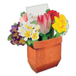 12 Units of Cheery Bouquet Centerpiece message card included; assembly required - Party Center Pieces