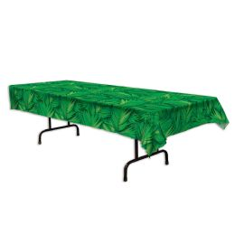 12 Units of Palm Leaf Tablecover Plastic - Table Cloth