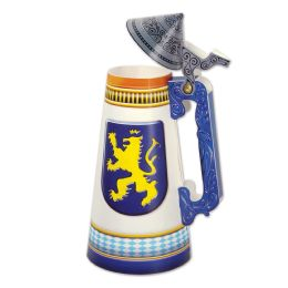 12 Units of 3-D Jointed Beer Stein Centerpiece assembly required; 2 brass fasteners included - Party Center Pieces