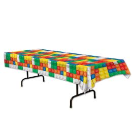 12 Units of Building Blocks Tablecover Plastic - Table Cloth