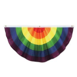 6 Units of Rainbow Fabric Bunting indoor & outdoor use; 3 grommets - Photo Prop Accessories & Door Cover