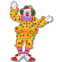 12 Units of Jointed Circus Clown - Bulk Toys & Party Favors