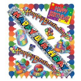 6 Units of Happy Birthday Party Kit - Party Accessory Sets