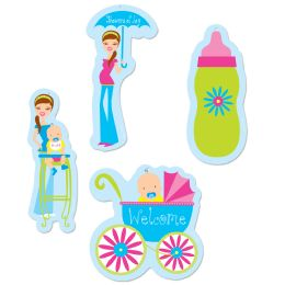 12 Units of Showers Of Joy Cutouts prtd 2 sides - Hanging Decorations & Cut Out
